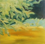 Pale Branches, 2014, oil on canvas, 18x18 inches