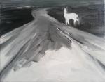 Doe a Deer (FLIR), 2013, oil/canvas, 11x14 inches