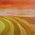 Field Gold, 2014, oil on canvas, 18x18 inches PRIVATE COLLECTION