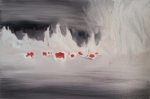 Heat Seekers (snow), 2014, oil/canvas, 20x30 inches