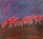 Heatseekers (Red Deer), 2014, oil/canvas, 24x30 inches