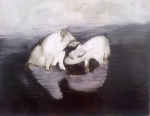 Hyaenas (Night Vision), 2012, oil/canvas, 14x18 inches