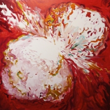 Pink Bomb, 2011, oil/canvas, 54x60 inches