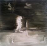 Predator 1, 2012, oil/canvas, 14x14 inches