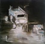 Predator 3, 2012, oil/canvas, 14x14 inches