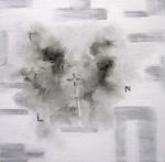 Predator 4, 2011, Silver acrylic, oil/canvas 18x18 inches