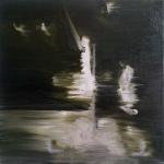 Predator 4, 2012, oil/canvas, 14x14 inches