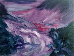 Infra Red Bed, 2014, oil on canvas, 11x14 inches