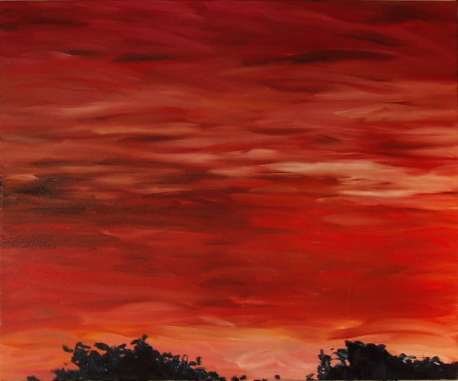 Red Heat, 2006, oil on canvas, 38x48 inches PRIVATE COLLECTION