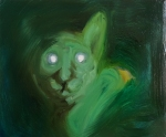 Snake Eyes (Night Vision), 2014, oil/canvas, 11x14 inches