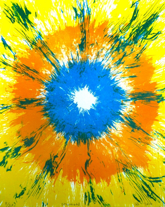 Splosion, 2010, lithograph, 14x11 inches, edition of 20.