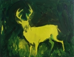 Green Stag (Night Vision) 2014,  oil/canvas, 11x14 inches