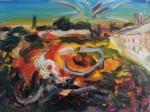 The Square, 2013, oil/canvas, 12x16 inches