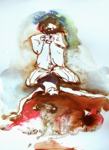 Blow Up, 2007, ink on paper, 15 x 10 inches