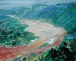 River (3), 2008, oil on canvas, 26 x 32 inches