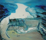 River (7), 2008, oil on canvas, 38 x 44 inches