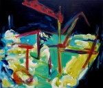 River (8), 2009, oil on canvas, 26 x 30 inches