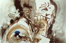 Rupert Murdoch, 2007, ink on paper 10 x 15 inches
