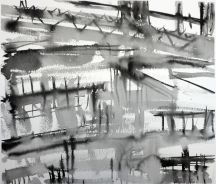 TGP2-01 (2008) Sumi ink on paper. 18 x 24 inches (paper size)