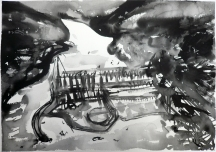 TGP2-09 (2008) Sumi ink on paper. 18 x 24 inches (paper size)