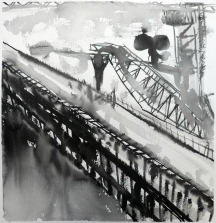 TGP2-15 (2008) Sumi ink on paper. 18 x 24 inches (paper size)