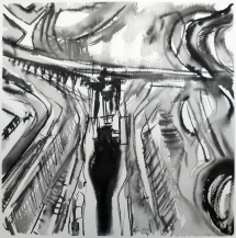 TGP2-20 (2008) Sumi ink on paper. 18 x 24 inches (paper size)