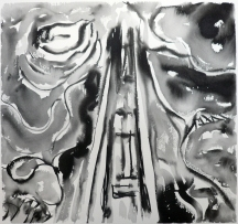 TGP2-21 (2008) Sumi ink on paper. 18 x 24 inches (paper size)