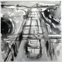 TGP2-22 (2008) Sumi ink on paper. 18 x 24 inches (paper size)
