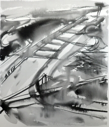 TGP2-25 (2008) Sumi ink on paper. 18 x 24 inches (paper size)