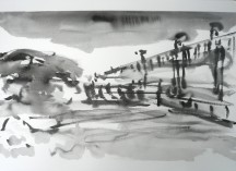 TGP3-03 (2009) Sumi ink on Arches paper. 22 x 30 inches