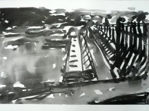 TGP3-05 (2009) Sumi ink on Arches paper. 22 x 30 inches