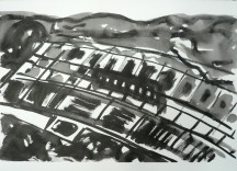 TGP3-06 (2009) Sumi ink on Arches paper. 22 x 30 inches