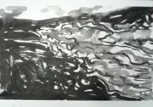 TGP3-07 (2009) Sumi ink on Arches paper. 22 x 30 inches