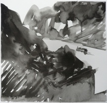 TGP_004 (2008) Sumi ink on paper. 10 x 15 inches (paper size)