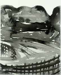 TGP_015 (2008) Sumi ink on paper. 10-1/4 x 14-1/4 inches (paper size)