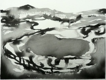 TGP_018 (2008) Sumi ink on paper. 10-1/4 x 14-1/4 inches (paper size)