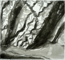 TGP_024 (2008) Sumi ink on paper. 11 x 14 inches (paper size)