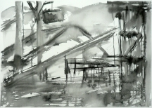 TGP_030 (2008) Sumi ink on paper. 18 x 24 inches (paper size)