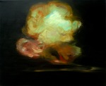 Explosion, Black & Yellow, 2009, oil on canvas, 26x32 inches