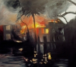 Flood, 2005, oil on canvas, 48x54 inches, PRIVATE COLLECTION