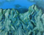 Glacial Unrest, 2015, oil on canvas, 16×20 inches
