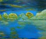 Glacier Glacé, 2015, oil on canvas, 38x44 inches