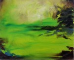 Green Glo, 2015, oil on canvas, 16x20 inches PRIVATE COLLECTION