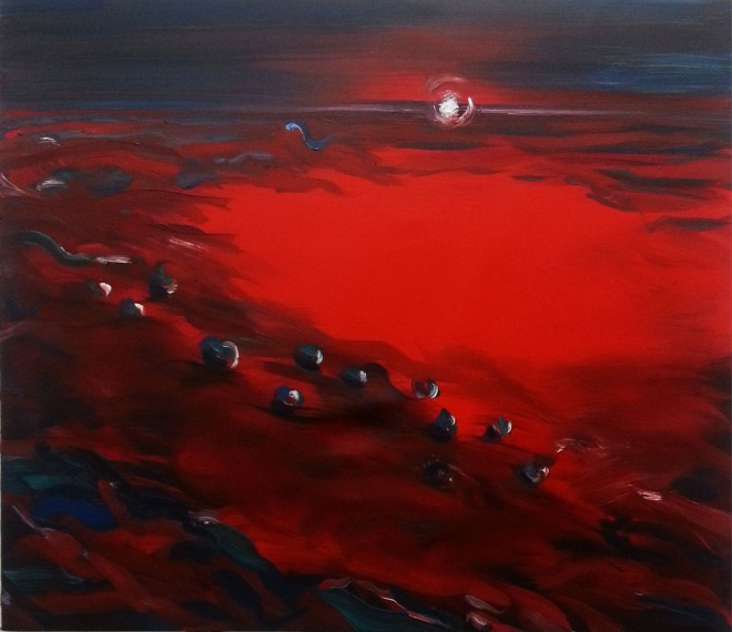 Sea of Love, 2015, oil on canvas, 38x44 inches