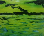 Lime Sea, 2016, oil on canvas, 16x20 inches
