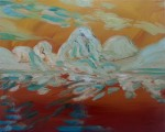 Butterscotch Mountains, 2015, oil on canvas, 16x20 inches PRIVATE COLLECTION
