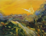 Sun Star, 2016, oil on canvas, 22x28 inches
