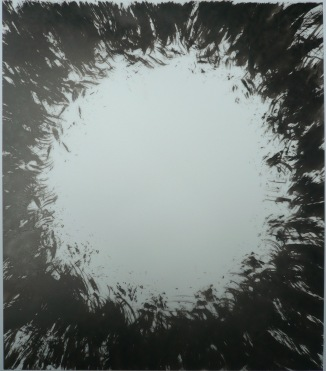 11-Big Burst 20, 2011, Japanese ink on vellum 17x14 inches