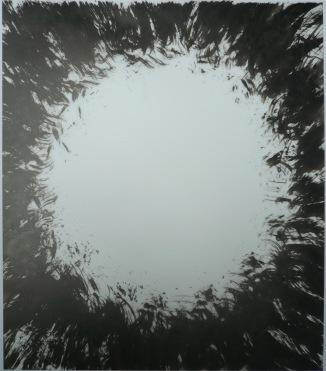 11-Big Burst 20, 2011, Japanese ink on vellum 17x14 inches