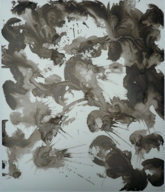 14-Big Burst 10, 2011, Japanese ink on vellum 17x14 inches